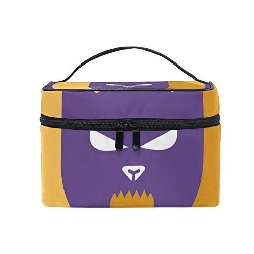 Makeup Organizer Halloween Cat Womens Zip Toiletry Bag Large Case Cosmetic Bags ()