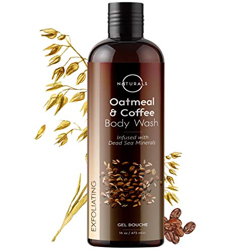 O Naturals Exfoliating Deep-Cleansing Dead Sea Minerals Coffee Scrub Body Wash. Anti-Cellulite Moisturizing Hydrates Promotes Circulation. Soothe Psoriasis Eczema Acne Dry & Itchy Skin. w/Oats. 16 Oz