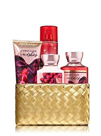 Amazoncom Bath And Body Works A Thousand Wishes Gold Woven Basket