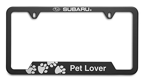 2005 Christmas Plate - OEM Genuine Subaru Pet Lover License Plate Frame SOA342L165 Matte Black