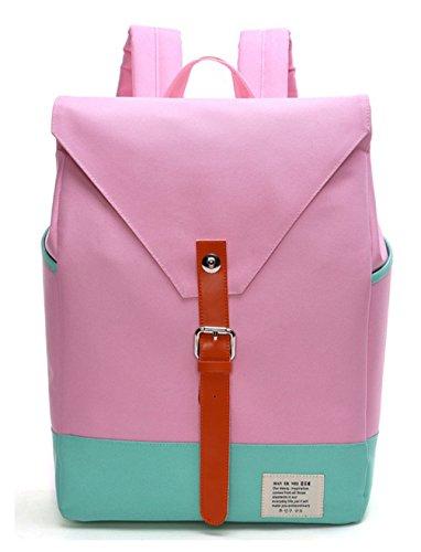 Girls Pink for Cute Lightweight Canvas Bag Fashion Young Backpacks Keshi Cool Backpack Teen Rg7ZP8