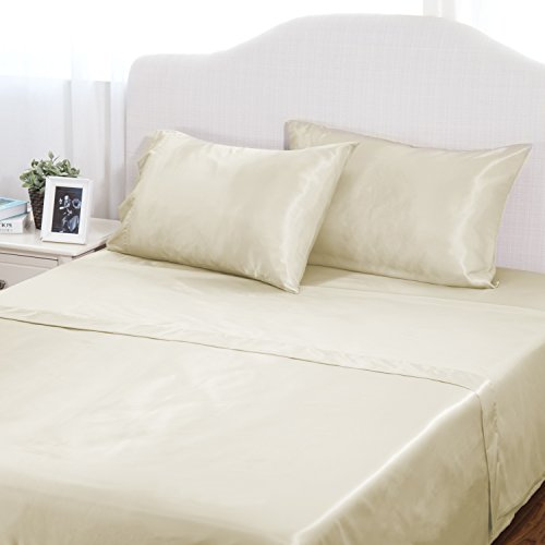 3-Piece Cool Satin Bed Sheet Set by Bedsure As Low As $14.99