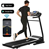 Folding Electric Treadmill Incline Motorized Running Machine Smartphone APP Control for Home Gym...