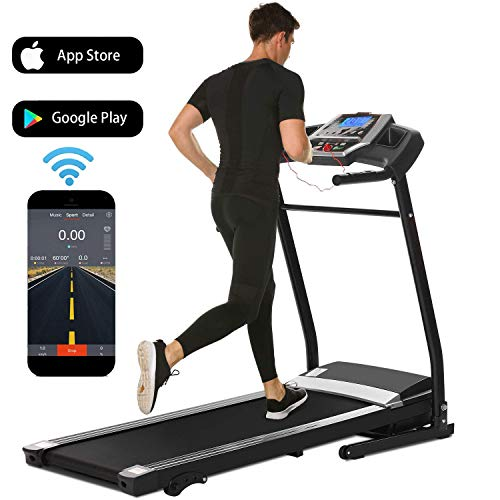 Folding Electric Treadmill Incline Motorized Running Machine Smartphone APP Control for Home Gym Exercise (2.25 HP-(APP Control))