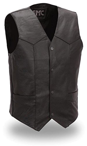 4 Pocket Leather Vest - 8