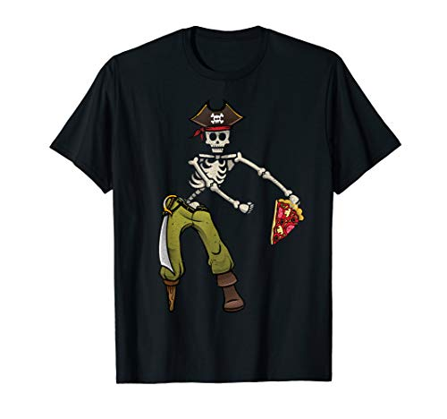 Flossing Skeleton Pirate Pizza Halloween Costume