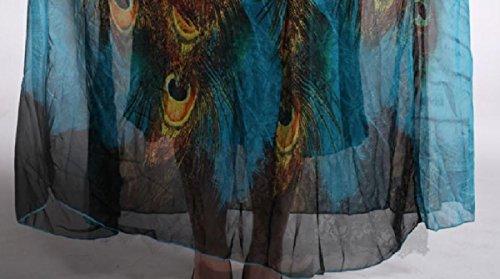 Oversized Dress Lake Tank Blue Dress Printed Bohemian 8XL Style Women Maxi Coolred 81wqxYw