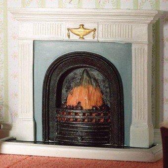 Georgian Place (Dolls House Miniature 1:12th Scale Georgian Fireplace With Hearth by The Dolls House Emporium)