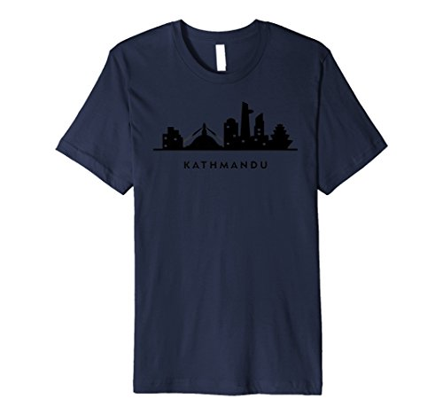KATHMANDU skyline shirt. Nepal Katmandu city travel guide -