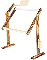 Besokuse Wood Cross Stitch Frame - Adjustable Craft Stand Needlework Holder Embroidery Lap & Table Standing Type Stand for Art Craft Sewing & Hanging