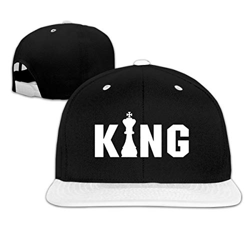 King Chess Trucker Cap Baseball Hat Sun Cap White