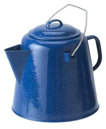 GSI Outdoors Enamelware Coffee Boiler, 20-Cup, Blue