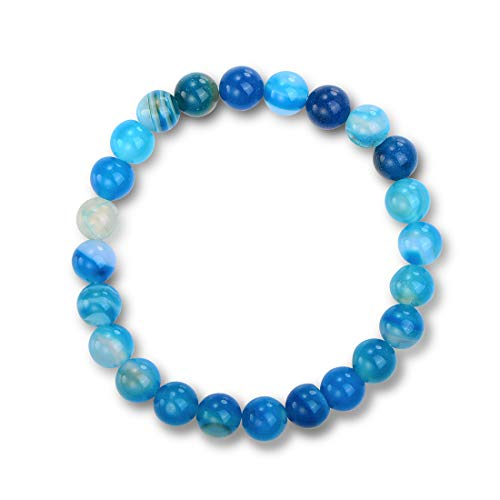 Barzel Natural Healing Stones (Genuine Blue Agate) - Genuine Agate Stone