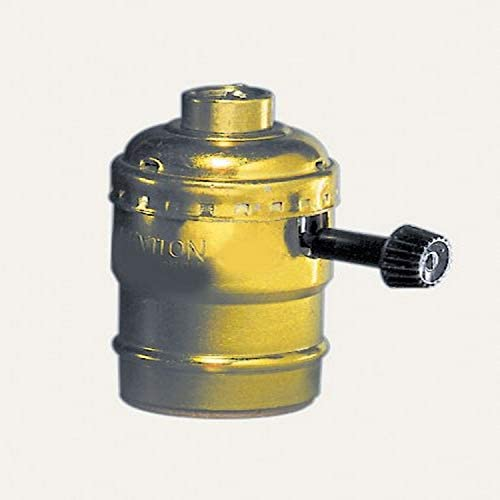 Leviton 10083-16 Electrolier 1-Circuit Lamp Holder, 250 W, Incandescent, Medium, Brass