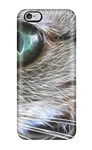 High-end Case Cover Protector For Iphone 6 Plus(bright Greens Cat Animal Cat)