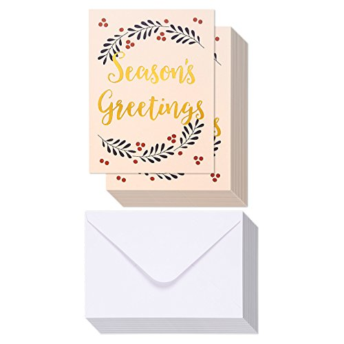 36 Pack Merry Christmas Greeting Cards product image