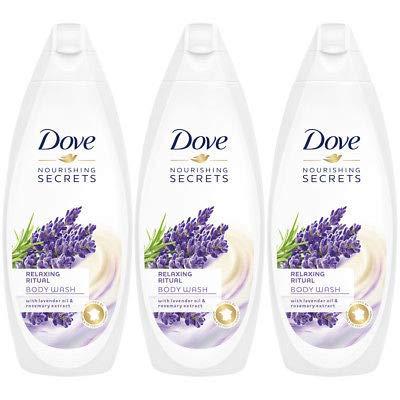 Dove Relaxing Ritual, Lavender Oil & Rosemary Body Wash - 3 Packs x 16.9 Fl.Oz / 500ml Ea 16.9 Ounce Milk Bath