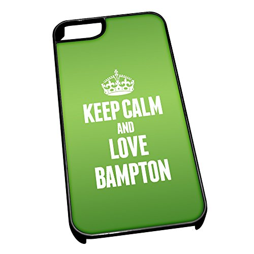 Nero cover per iPhone 5/5S 0037 verde Keep Calm and Love Bampton
