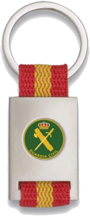 Tiendas LGP Albainox- Llavero Bandera DE ESPAÑA y Emblema Guardia Civil, Plateado: Amazon.es: Equipaje
