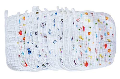 LUXEHOME 10 pack Premium Reusable Muslin