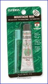 Clubman Moustache Wax With Brush/Comb Neutral, 0.5 oz (Pack of 2)