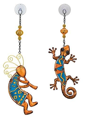 Regal Art & Gift Suncatchers for Home, Garden, Window and Wall Art (Gecko & Kokopelli)