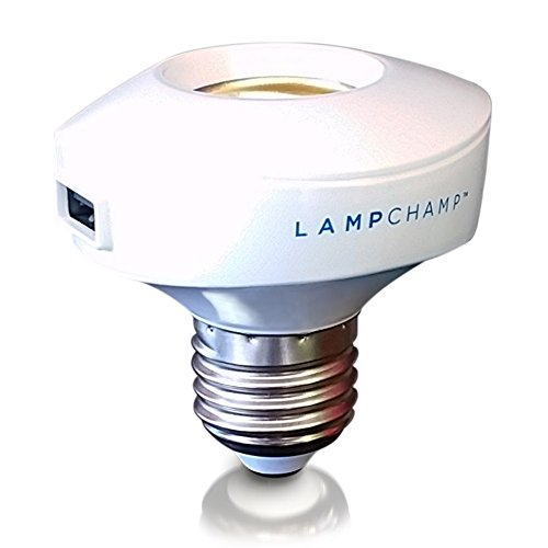 Nyce Power LampCharger Light Bulb Socket Adapter, Light Socket USB Charging Station, Desk Lamp Adapter with Dual...