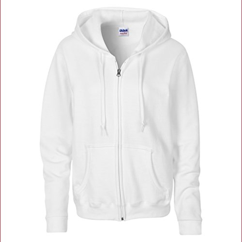 GILDAN - Sudadera con capucha - para mujer blanco