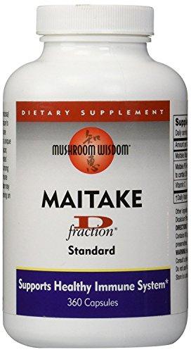 MUSHROOM WISDOM Maitake Mushroom Extract D-Fraction 360 Capsules