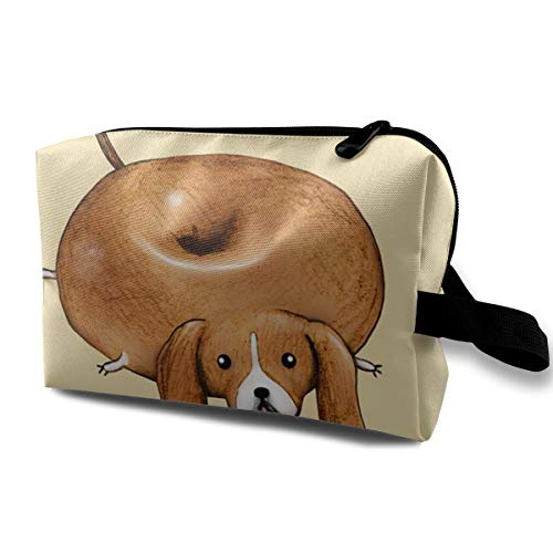 Beagle Bagel Donuts Cosmetic Bag Toiletries Bags Makeup Pouch Accessories Pen Pencil Power Lines Storage Travel Cases Of Resistance Carry Handle