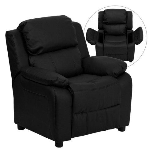 Flash Furniture Contemporary Kids Recliner in Black BT-7985-KID-BK-LEA-GG