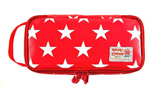 Dominoes Pack (Rough Enough Heavy Duty Glossy Canvas Fashion Star Portable Travel Makeup Pouch Tool Carry Bag Pencil Case Organizer Storage with Zipper for Accessories Supplies of Macbook Cellphone Kids Girls Women)