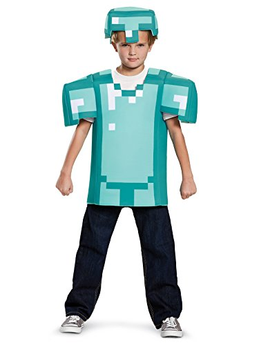 Armor Classic Minecraft Costume, Blue, Medium (7-8) ()