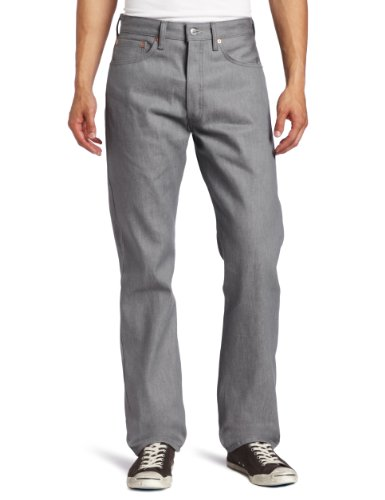 Levi's Men's 501 Original Shrink-to-Fit Jeans, Silver Rigid, 29WX32L