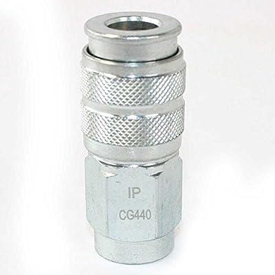 Interstate Pneumatics CG440 1/4 Inch Universal Steel Coupler 1/4 Inch Female NPT