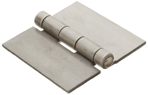 Stainless Steel 316 Surface Mount Butt Hinge without Hole, 2B Mill Finish, 0.120'' Leaf Thickness, 3'' Open Width, 1/4'' Pin Diameter, 3'' Long, Non-Removable Pin (Pack of 1) by Small Parts