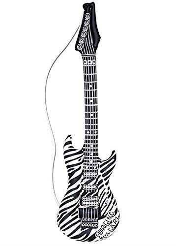 Guitarra inflable con estampado de cebra Rock Star de los 80: Amazon.es: Juguetes y juegos