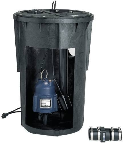 Myers SR1830-23-2 0.4 hp Cast Iron Packaged Sewage Pump,  Metal, Black