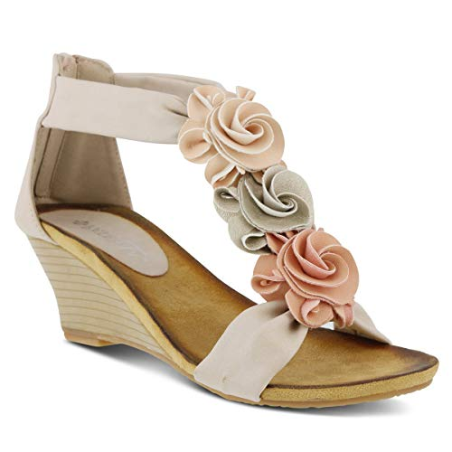PATRIZIA Women's Harlequin Wedge Sandal Peach Multi