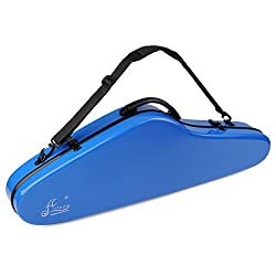 Aileen Violin Hard Case 4/4 Full Size Luxury Fiberglass with Hygrometer Suspension, Blue