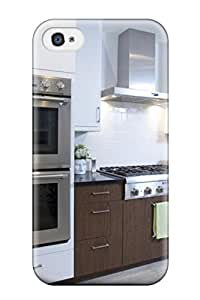 New Arrival White Modern Kitchen With Double Oven And White Washed Hardwood Floors XhuMCnf19505uvHil Case Cover/ 4/4s Iphone Case