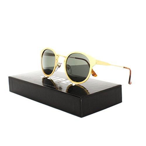 Super Sunglasses SUPLJ Panama Oro Gold by - Super Panama Sunglasses
