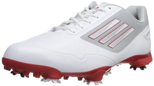 adidas Men's Adizero One Golf Shoe,White/Red/Light Grey,11 M US