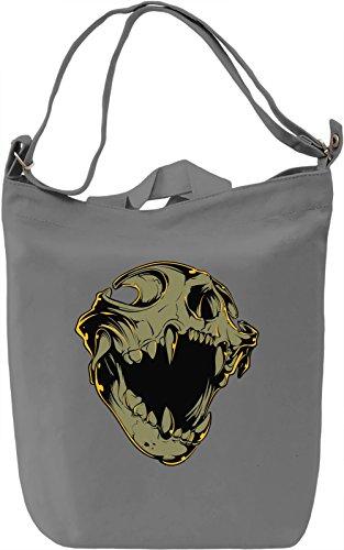 Animal skull Borsa Giornaliera Canvas Canvas Day Bag  100% Premium Cotton Canvas  DTG Printing 