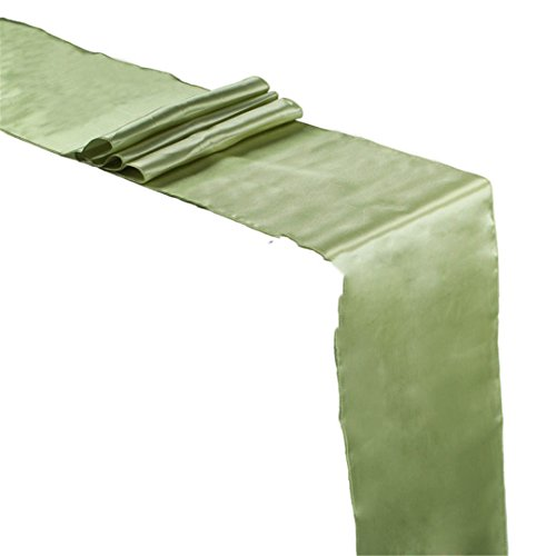 Satin Table Runner 30Cm X 275Cm For Wedding Party Event Banq