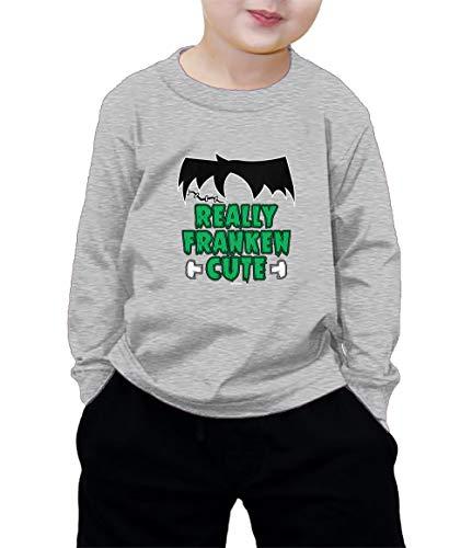 HAASE UNLIMITED Really Franken Cute Long Sleeve Shirt (Light Gray, 3T) -