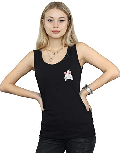Disney Women's The Aristocats Marie Backside Breast Print Tank Top Black XX-Large