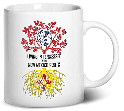 Tenacitee Living In Tennessee with New Mexico Roots Coffee Mug, 11oz, White