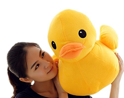 (PeiGee 50CM Plush Yellow Duck Soft Stuffed Animal Toy Sofa Decoration Kids Birthday)