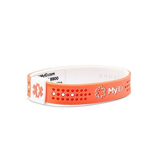 (MyID Kids Silicone Sport Medical ID Bracelet, Online Profile, Medical information System)